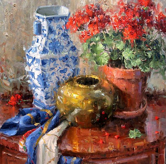 Impressionizm-E.J.Paprocki.-Kartina-Scarf-24h24-dyuyma-holst-maslo