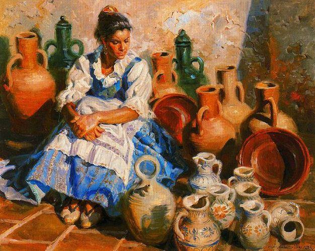 Ispanskiy-hudozhnik-Juan-Gonzalez-Alacreu.-Portretyi-maslom.-Kartina-chetvertaya