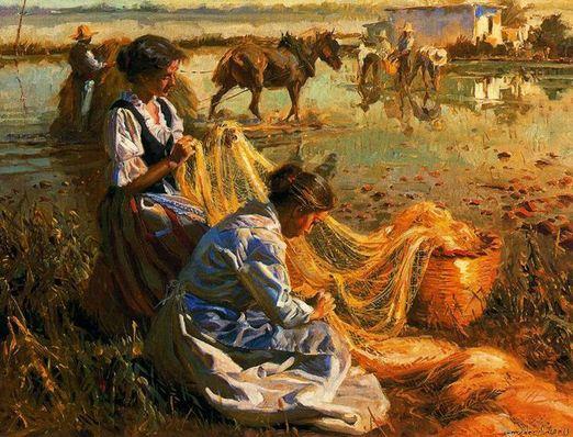 Ispanskiy-hudozhnik-Juan-Gonzalez-Alacreu.-Portretyi-maslom.-Kartina-vosemnadtsataya
