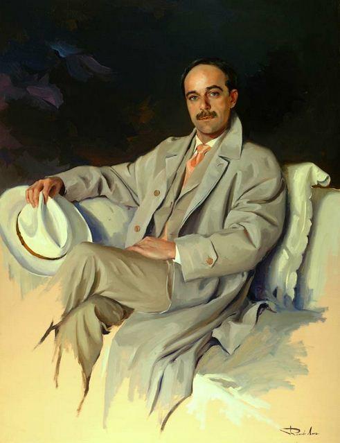 Испанский художник Ricardo Sanz. Портрет маслом десятый