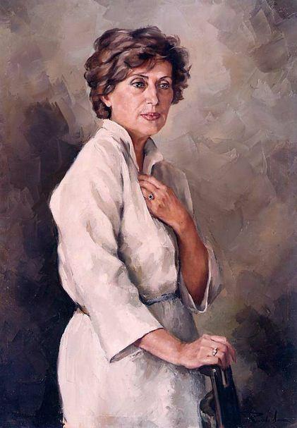 Испанский художник Ricardo Sanz. Портрет маслом девятый