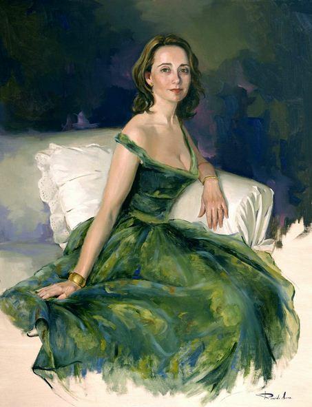 Испанский художник Ricardo Sanz. Портрет маслом двенадцатый