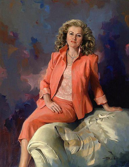 Испанский художник Ricardo Sanz. Портрет маслом шестой