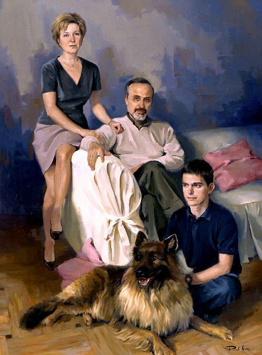 Испанский художник Ricardo Sanz. Портрет маслом третий