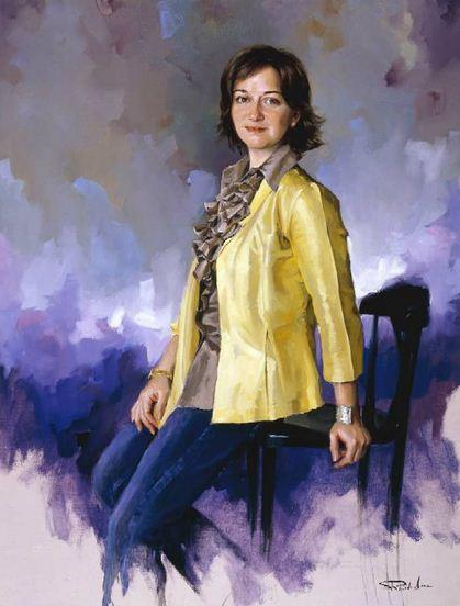 Испанский художник Ricardo Sanz. Портрет маслом тринадцатый