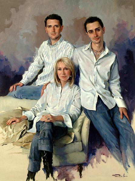 Испанский художник Ricardo Sanz. Портрет маслом второй