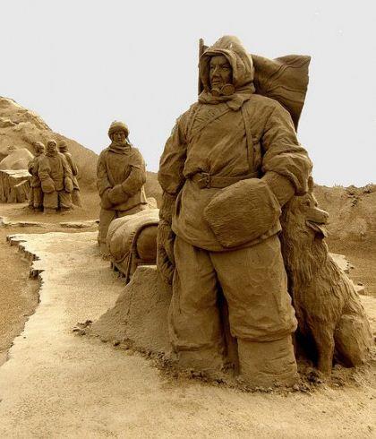 Песчаная скульптура девятая