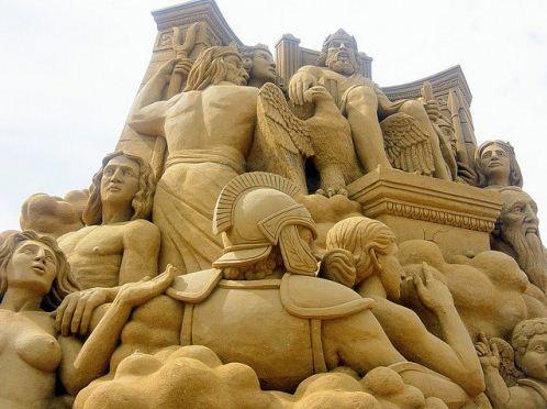 Песчаная скульптура двадцать пятая