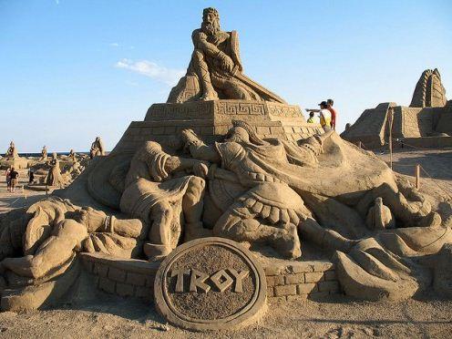 Песчаная скульптура семнадцатая