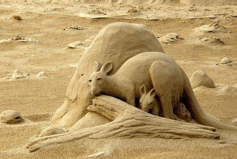 Песчаная скульптура шестая