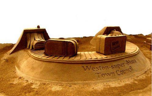 Песчаная скульптура восьмая