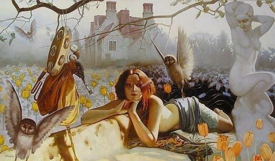 Russkaya-hudozhnitsa-Svetlana-Valueva.-ZHenskiy-obraz-v-prostranstve.-Portret-sedmoy