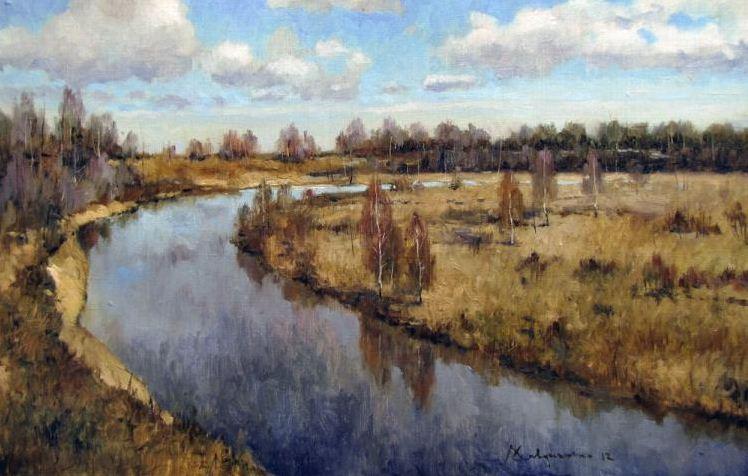 Савченко Алексей. Свободная река 40х60 холст масло