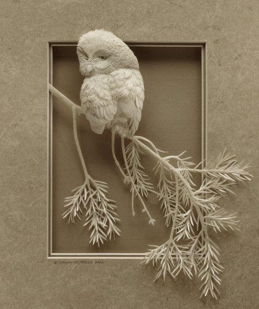 Skulptura-iz-bumagi-Calvin-Nicholls.-Animalistika-v-skulpture-chetvertaya