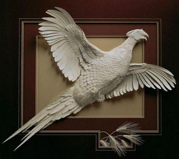 Skulptura-iz-bumagi-Calvin-Nicholls.-Animalistika-v-skulpture-devyatnadtsataya