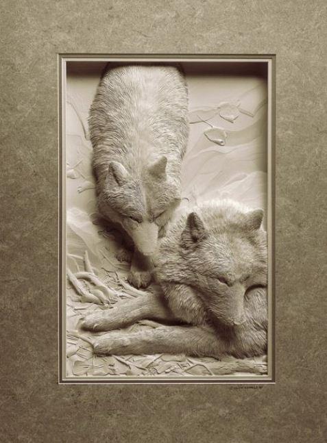 Skulptura-iz-bumagi-Calvin-Nicholls.-Animalistika-v-skulpture-dvadtsat-pyataya