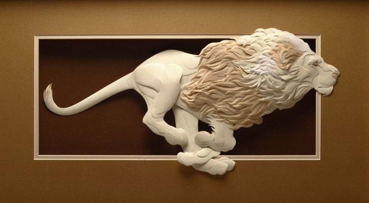 Skulptura-iz-bumagi-Calvin-Nicholls.-Animalistika-v-skulpture-dvadtsat-sedmaya