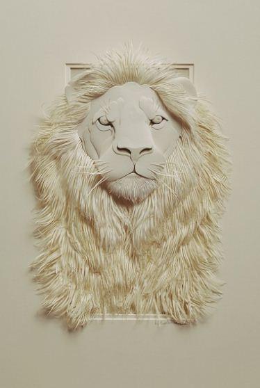 Skulptura-iz-bumagi-Calvin-Nicholls.-Animalistika-v-skulpture-dvadtsat-tretya