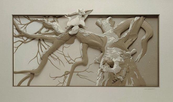 Skulptura-iz-bumagi-Calvin-Nicholls.-Animalistika-v-skulpture-dvadtsat-vosmaya