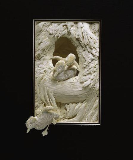 Skulptura-iz-bumagi-Calvin-Nicholls.-Animalistika-v-skulpture-odinadtsataya