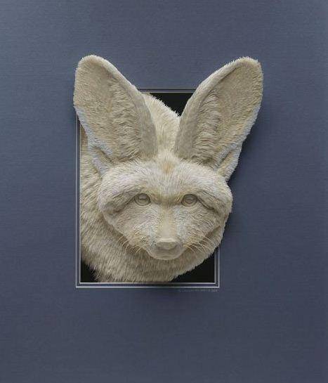 Skulptura-iz-bumagi-Calvin-Nicholls.-Animalistika-v-skulpture-tretya