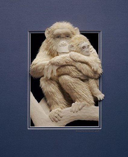 Skulptura-iz-bumagi-Calvin-Nicholls.-Animalistika-v-skulpture-trinadtsataya