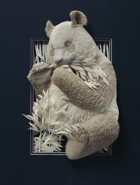 Skulptura-iz-bumagi-Calvin-Nicholls.-Animalistika-v-skulpture-vosmaya
