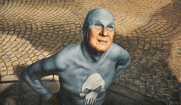 Andreas Englund. Юмор в живописи. Супер-герои. Четвертая