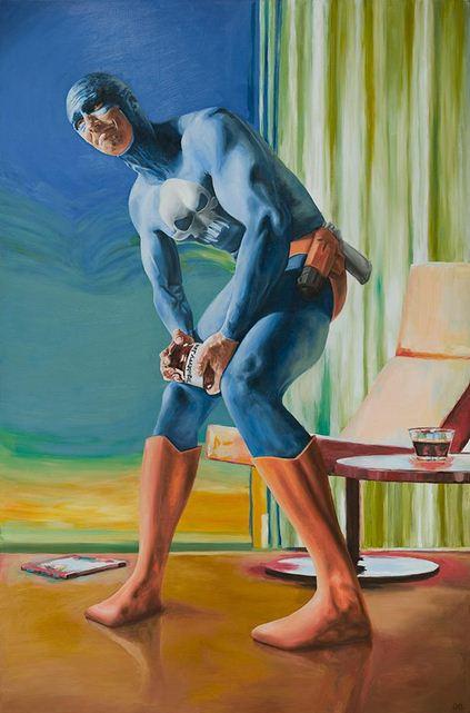 Andreas Englund. Юмор в живописи. Супер-герои. Двенадцатая