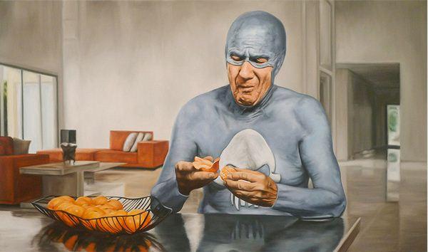 Andreas Englund. Юмор в живописи. Супер-герои. Шестая