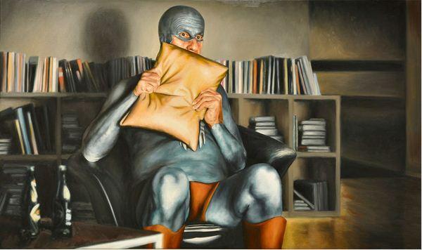Andreas Englund. Юмор в живописи. Супер-герои. Седьмая