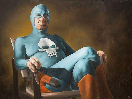 Andreas Englund. Юмор в живописи. Супер-герои. Вторая