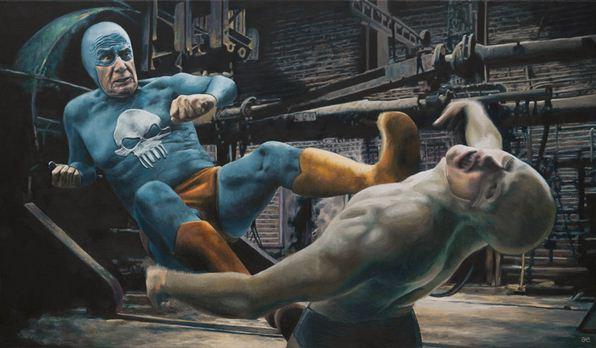 Andreas Englund. Юмор в живописи. Супер-герои.Девятая