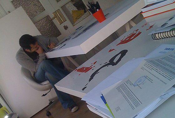 Gabriel Moreno в мастерской