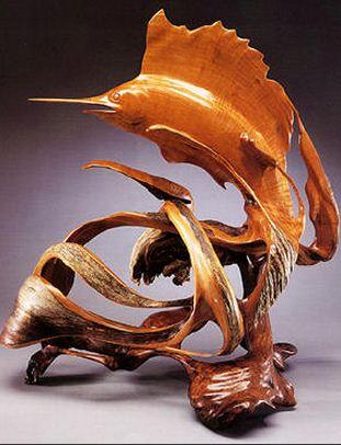 J. Christopher White.  Изящные деревянные скульптуры. Четырнадцатая