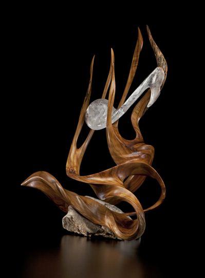 J. Christopher White.  Изящные деревянные скульптуры. Двадцатая