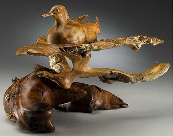 J. Christopher White.  Изящные деревянные скульптуры. Третья