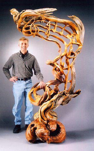J. Christopher White.  Изящные деревянные скульптуры. Вторая