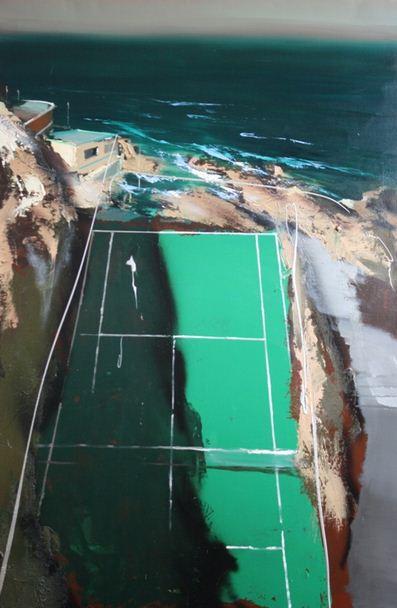 Jean Arcelin. Современные картины маслом. Тихоокеанский теннис