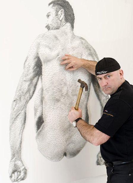 Marcus Levine. Картины из гвоздей. Вторая