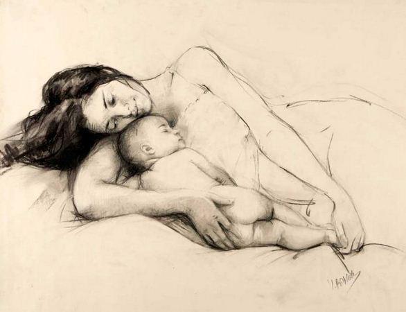 Vicente Romero Redonto. Портреты женщин. Рисунок седьмой