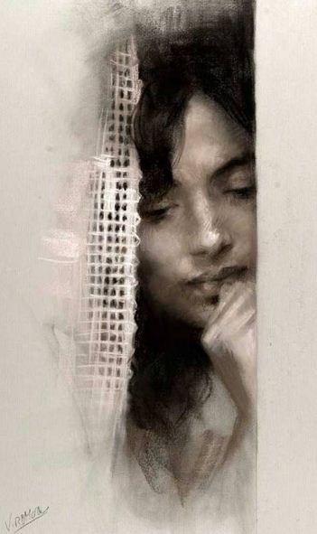 Vicente Romero Redonto. Портреты женщин. Рисунок второй