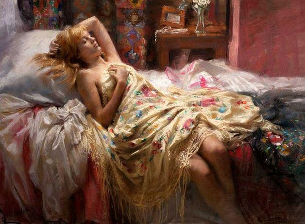 Vicente Romero Redonto. Живопись портреты женщин. Картина десятая