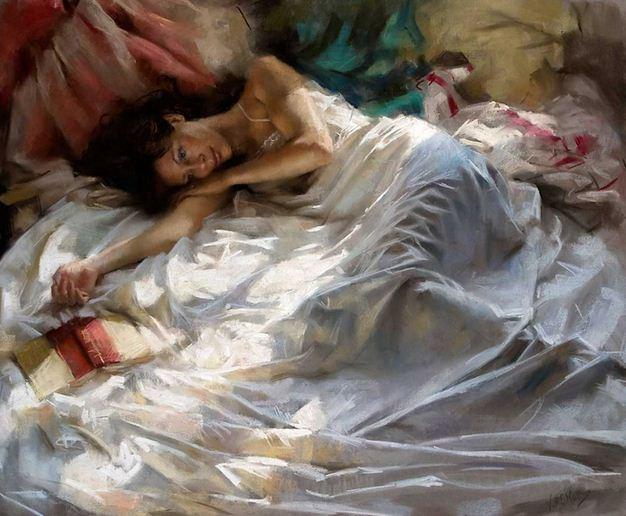 Vicente Romero Redonto. Живопись портреты женщин. Картина девятая