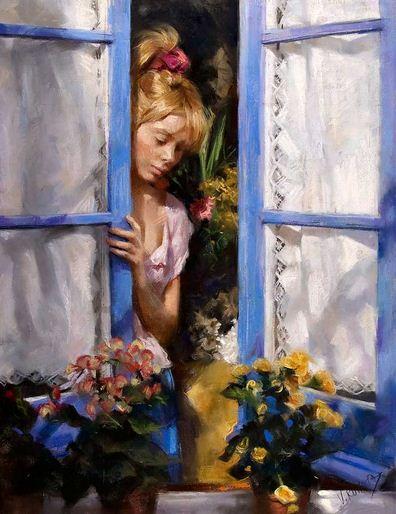 Vicente Romero Redonto. Живопись портреты женщин. Картина первая
