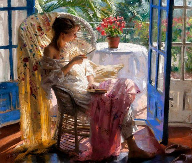 Vicente Romero Redonto. Живопись портреты женщин. Картина пятая