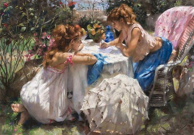 Vicente Romero Redonto. Живопись портреты женщин. Картина пятнадцатая