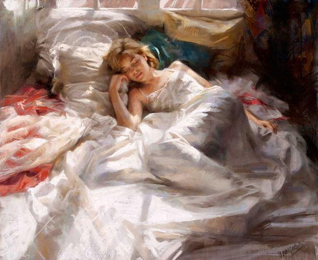 Vicente Romero Redonto. Живопись портреты женщин. Картина шестнадцатая