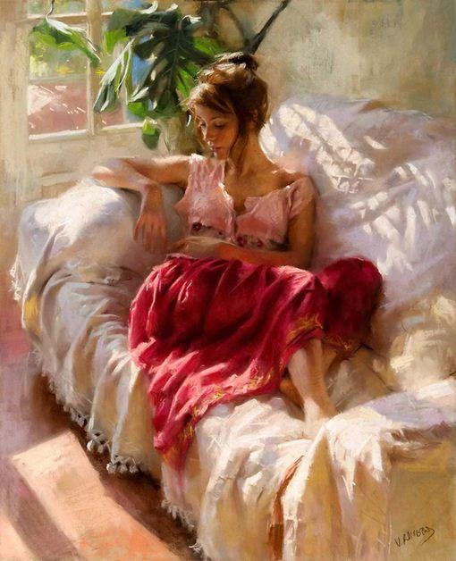 Vicente Romero Redonto. Живопись портреты женщин. Картина тринадцатая