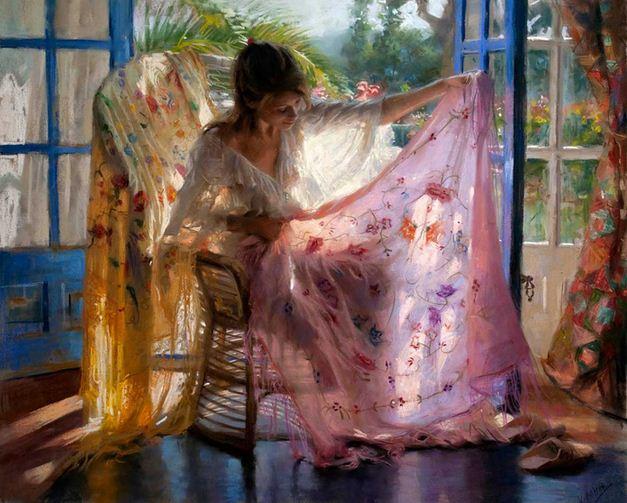 Vicente Romero Redonto. Живопись портреты женщин. Картина восемнадцатая